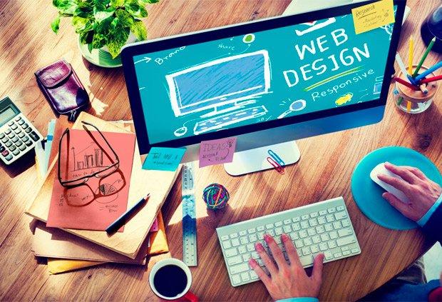 a web designer at work